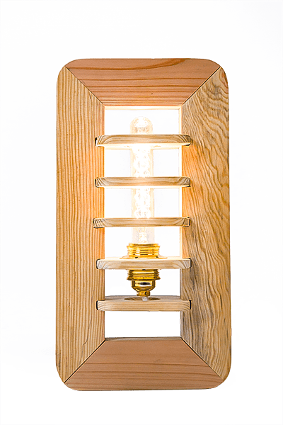 luminaire en bois par palette works, photographie packshor produit