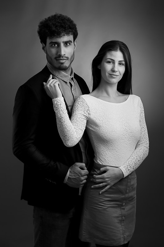 shooting couple en studio