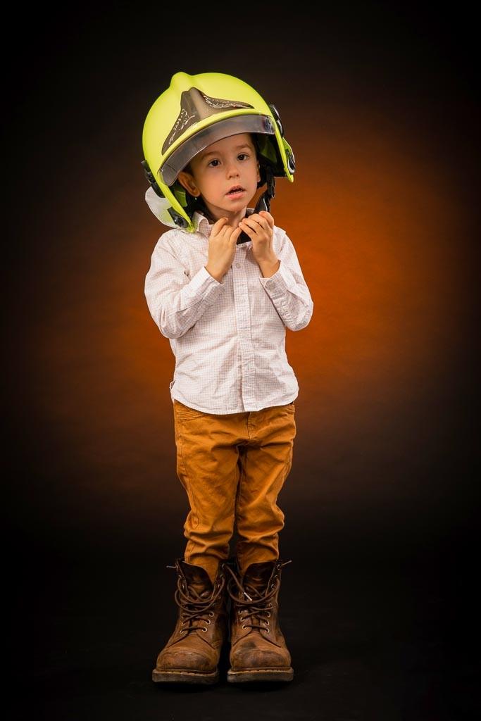 séance photo pompier