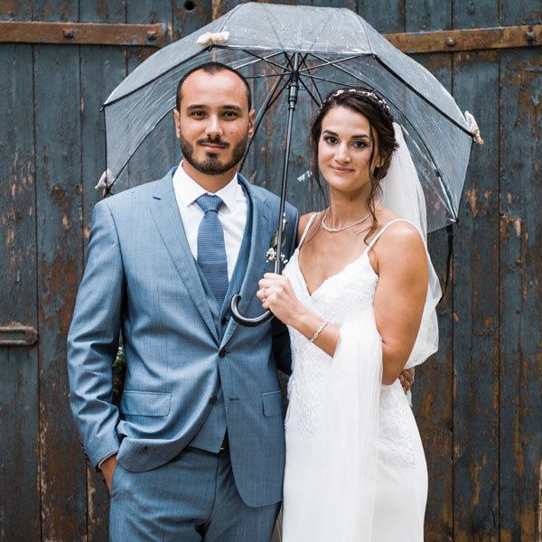 Mariage sous la pluie, pas de panique