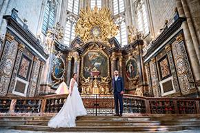 mariage dans la basilique de Saint Maximin